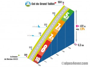 Versant OUEST du Col du Grand Taillet