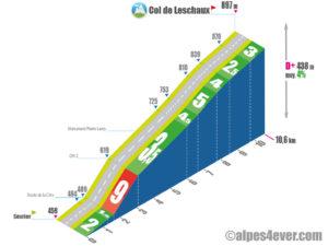 Col de Leschaux / versant Nord - variante 2b