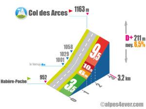 Col des Arces / Versant Sud depuis Habère-Poche